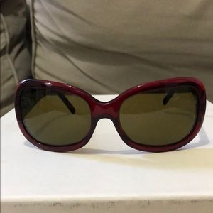 Prada sunglasses red frame